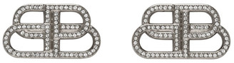 Balenciaga Silver Small BB Stud Earrings