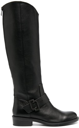 Liu Jo Logo-Buckle Riding Boots