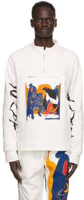 Bethany Williams White The Magpie Project Edition Football Zip-Up Sweatshirt