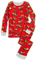 Hatley Boy's Heavy Duty Machines Fitted Two-Piece Organic Cotton Pajamas