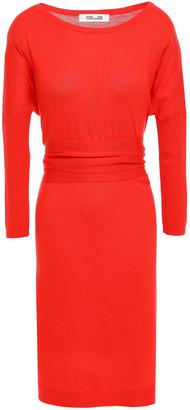 Diane von Furstenberg Carolyn Tie-front Merino Wool Dress