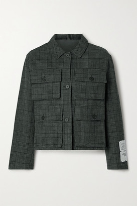 McQ Checked Cotton And Wool-blend Jacket - Charcoal