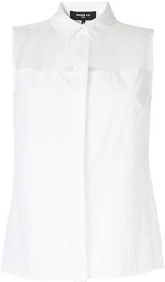 Paule Ka Organza-Panelled Shirt