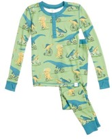 Boy's Munki Munki Dino Bikes Fitted Two-Piece Pajamas