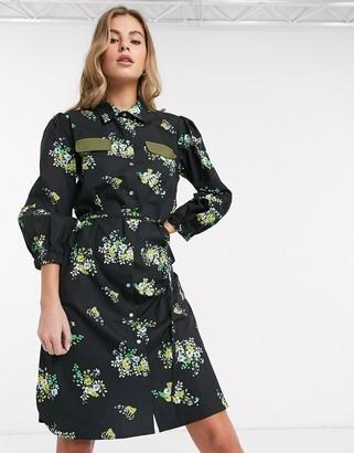 Résumé Resume Sianna floral mini shirt dress