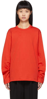 Comme des Garcons Red Back Logo Long Sleeve T-Shirt