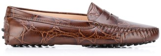 Tod's Textured Leather Loafers
