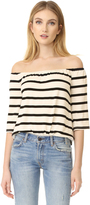 BB Dakota Geri Striped Off Shoulder Top