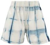 story. Mfg. - Yeah Tie-dye Organic-cotton Shorts - Womens - Blue White