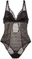 Mimi Holliday Bisou Bisou Plum Non-Underwired Bodysuit
