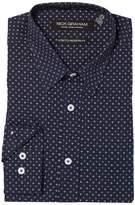 Nick Graham Asterisk Print Stretch Dress Shirt Men's Clothing