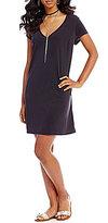 Sequin Hearts Short Sleeve Knit Shift Dress