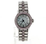 Mauboussin Maubossin 18K White Gold Pink Diamonds Womens 26mm Watch