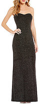 Jump Strapless Glitter-Accented Long Dress