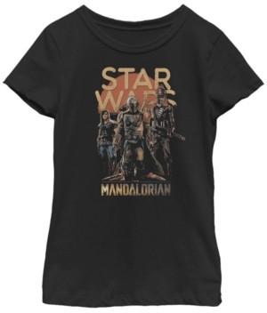 Fifth Sun Star Wars The Mandalorian Big Girls Grunge Character Short Sleeve T-shirt