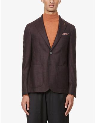 Pal Zileri Brera patch pocket wool jacket