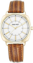 Nine West Haizley Leather Strap Watch