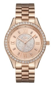 JBW Women's Mondrian Jewelry Set Diamond (1/6 ct.t.w.) 18K Rose Gold Plated Stainless Steel Watch