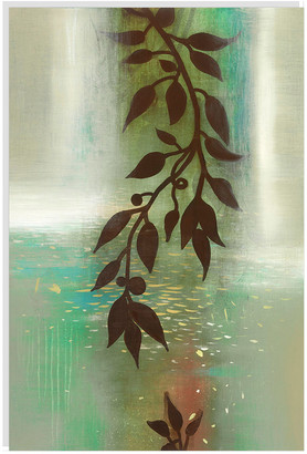 Jonathan Bass Studio Hanging Garden E, Decorative Framed Hand Embellished Canvas