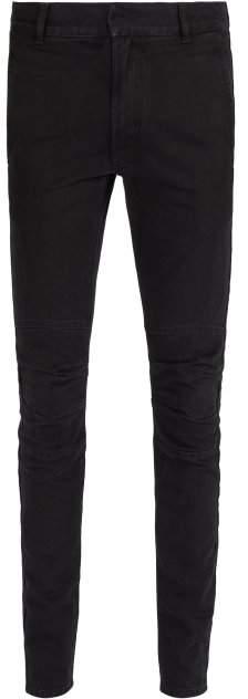 Balmain Mid Rise Denim Biker Jeans - Mens - Black