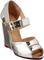 Charlotte Olympia Marcella 100 Metallic Leather Wedge