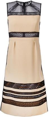 Bottega Veneta Lace Panel Midi Dress