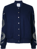 Zoe Karssen snakes bomber jacket - women - Wool/viscose - S