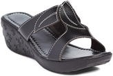 Pandora Black Wendy Slip-On Wedge Sandal