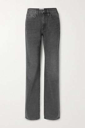 Frame Le Jane High-rise Straight-leg Jeans - Black