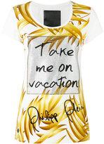 Philipp Plein 'Take Me On Vacation' slogan t-shirt - women - Cotton - S