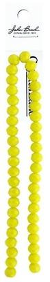 "John Bead Corporation John Bead Crys Ln Rondl 7"" 8x10mm Opq Yellow - Medium"