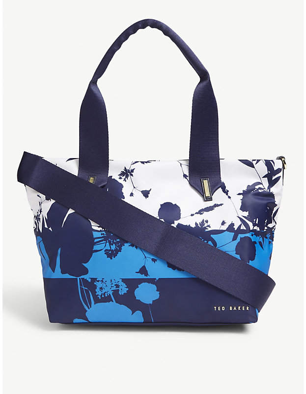 Ted Baker Bluebell small canvas tote