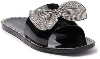 Wild Diva Lounge Jacelyn Embellished Slide Sandal