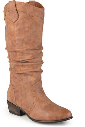 Journee Collection Womens Drover Wide Calf Slouch Riding Boots