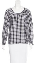 A.P.C. Long Sleeve Plaid Blouse