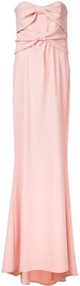 Moschino Bandeau Bow Evening Dress