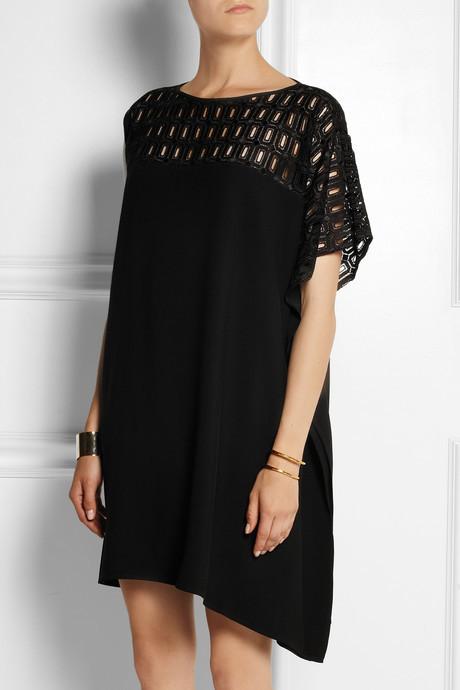 Zero Maria Cornejo Contro crochet-paneled crepe dress