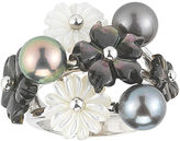 JCPenney FINE JEWELRY Black Cultured Freshwater Pearl & Tahitian Pearl Ring