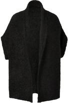DKNY Black Oversized Short Sleeve Cozy Cardigan