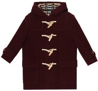 BURBERRY KIDS Virgin wool duffle coat