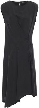 Ann Demeulemeester Asymmetric Lace-up Cupro Dress