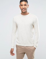Asos Crew Neck Sweater in Oatmeal Cotton