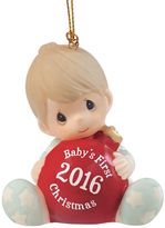 "Precious Moments Baby's First Christmas"" Boy 2016 Christmas Ornament"