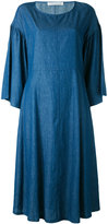 Stefano Mortari chambray bell sleeve dress - women - Cotton - 40