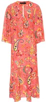 Etro Printed crepe maxi dress