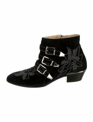 Chloé Suzanna Studded Accents Boots Blue