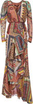 Etro Asymmetric Printed Long Dress