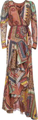 Etro Asymmetric Printed Long Dress
