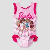 Barbie Toddler Girls' ; One Piece Swimsuit - Pink