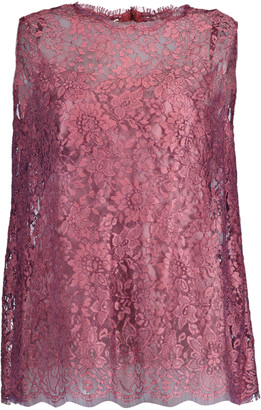 Dolce & Gabbana Sleeveless Lace Lame Cami Top